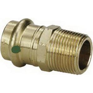 ProPress® 79270 Bronze Pipe Adapter, 1-1/2 in x 1-1/4 in, Press x MNPT, Import