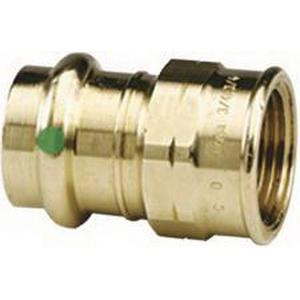 ProPress® 79305 Bronze Pipe Adapter, 1/2 in x 3/4 in, Press x FNPT, Import