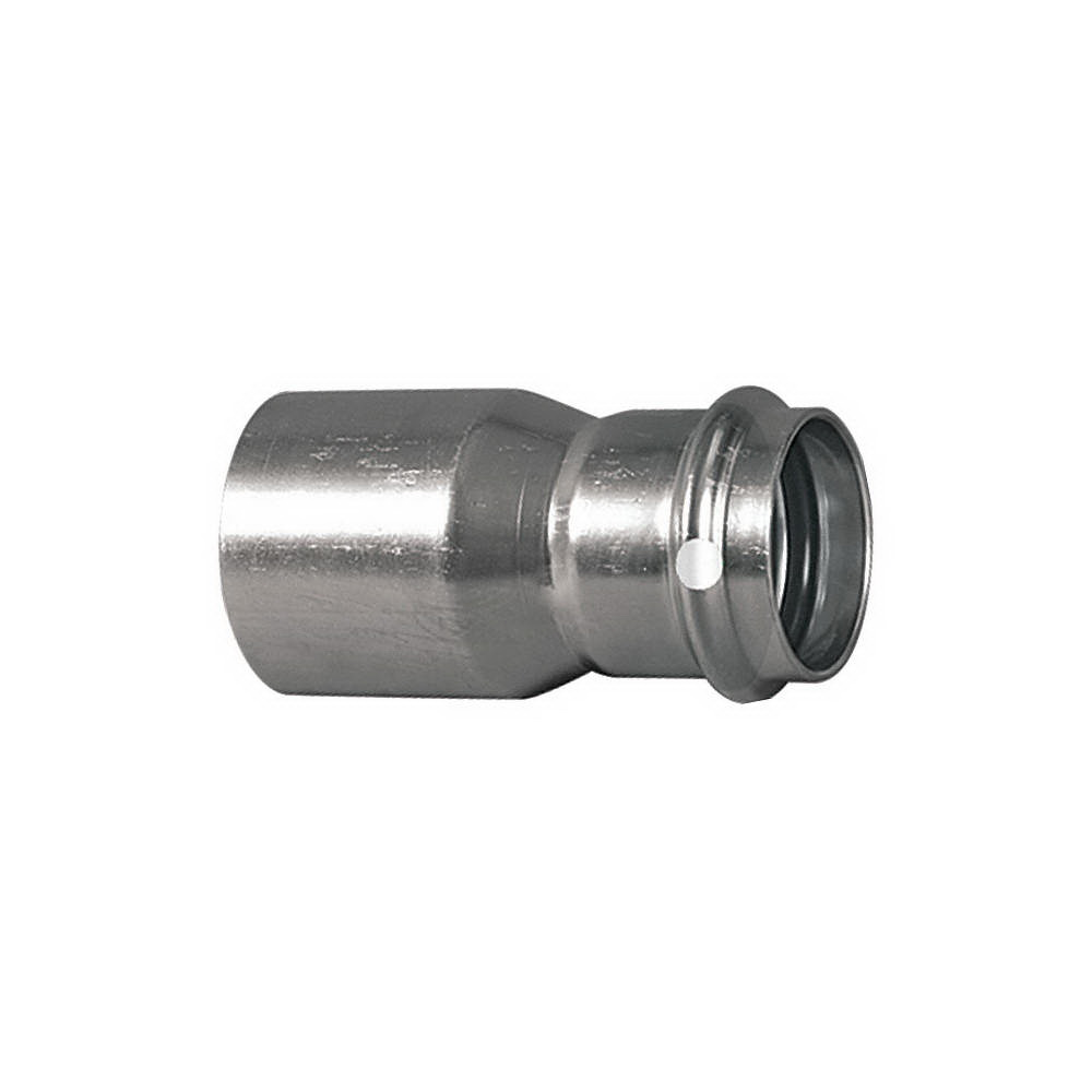 ProPress® 85167 304 Stainless Steel Reducer, 1 in x 1/2 in, Street Fitting x Press