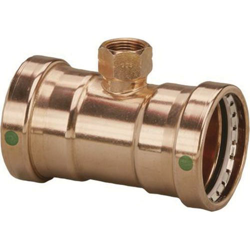 ProPress® XL-C 20873 Copper Tee, 4 in x 4 in x 3/4 in, Press x Press x FNPT, Import