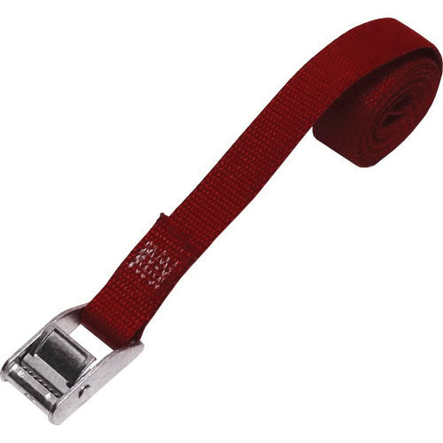 Rack-Strap® CS1-RD4 Red Polyester Webbing Cam Buckle Tie Down Cinch Strap, 48 in L x 1 in W, 350 lb