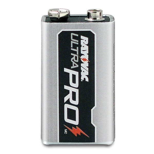 Rayovac® UltraPro™ AL9V-8 Steel Jacket Non-Rechargeable Alkaline Battery, 9 V, 500 mAh