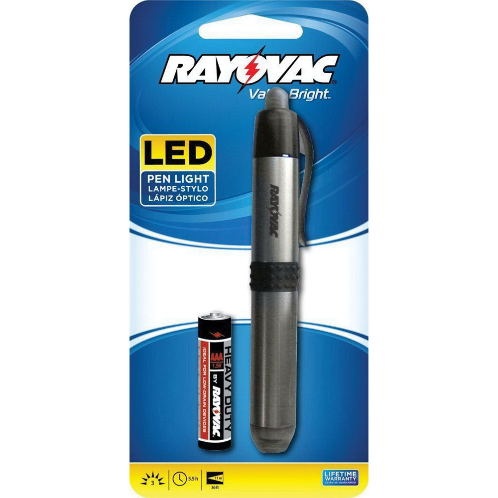 Rayovac® Brilliant Solutions™ Value Bright® BRSLEDPEN-B Aluminum Alloy LED Pen Light, 3 Lumens