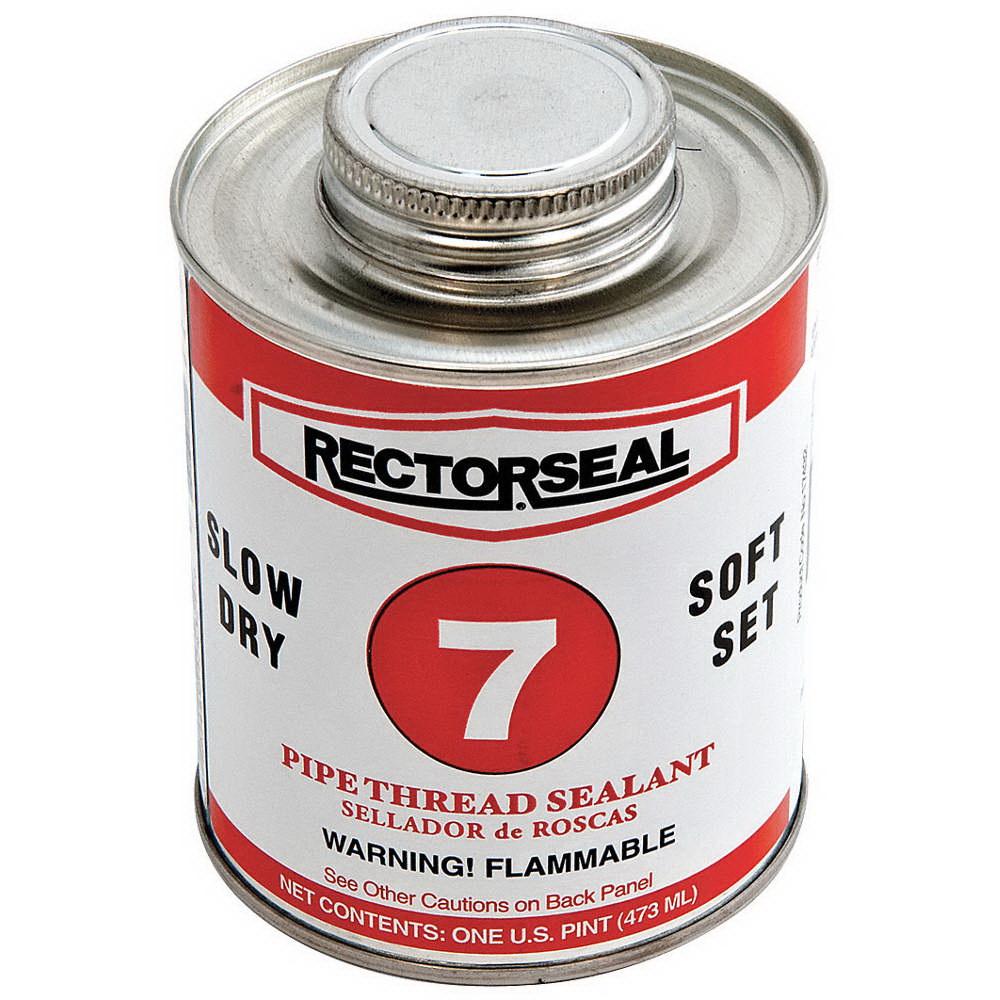 RectorSeal® 17432 Medium Dry Pipe Thread Sealant, 1 pt Brush Top Can, Black