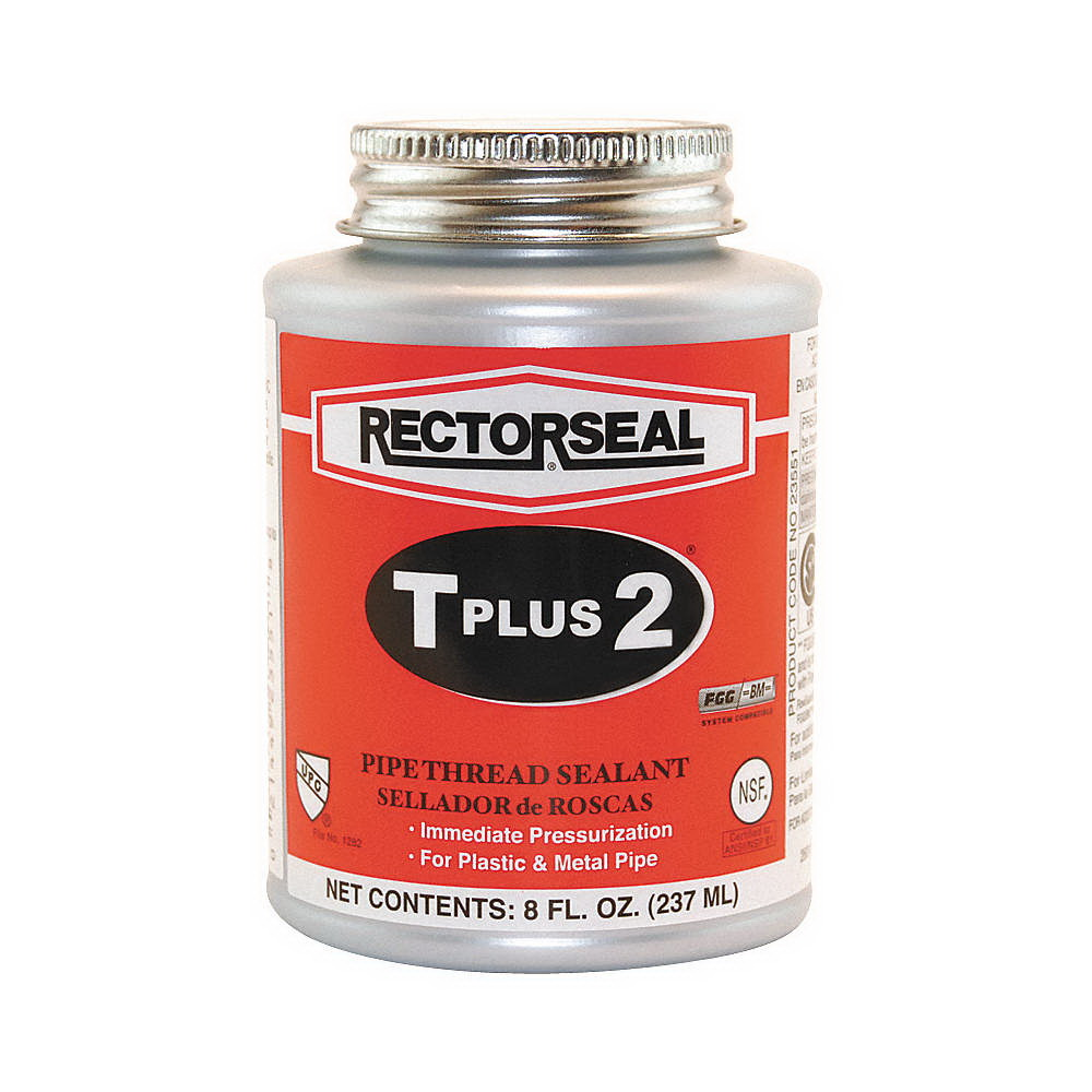 RectorSeal® T Plus 2® 23551 Multi-Purpose Pipe Thread Sealant, 0.5 pt Can, White