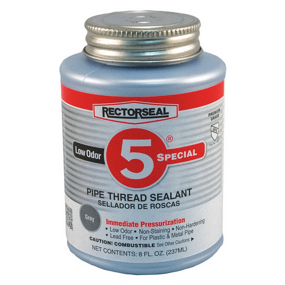 RectorSeal® 26551 Pipe Thread Sealant, 0.5 pt Can, Gray