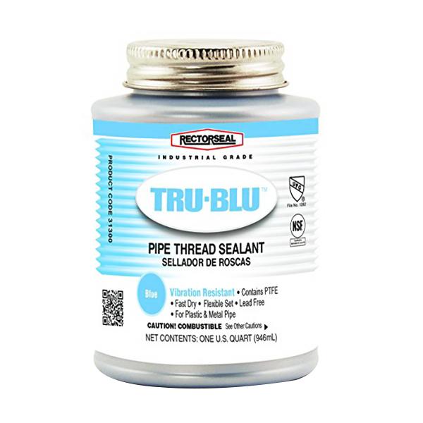 RectorSeal® Tru-Blu™ 31300 Pipe Thread Sealant, 1 qt Can, Blue