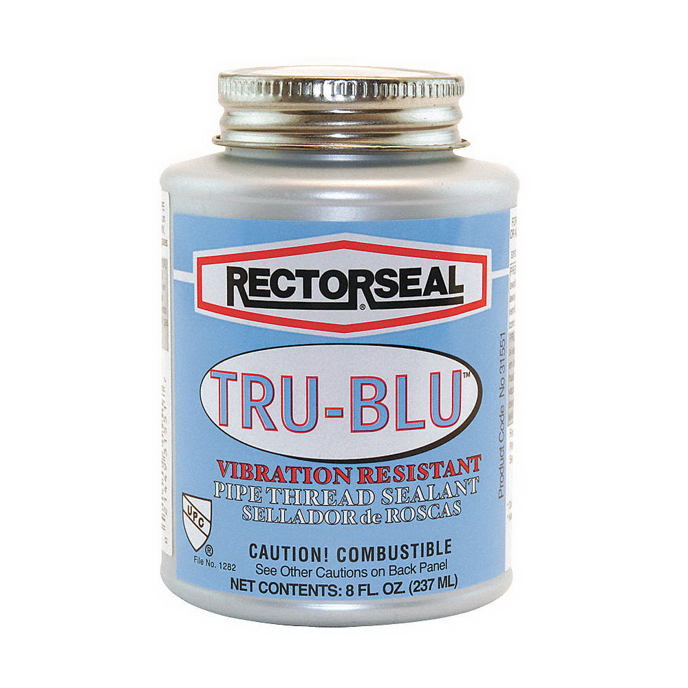 RectorSeal® Tru-Blu™ 31551 Pipe Thread Sealant, 0.5 pt Can, Blue