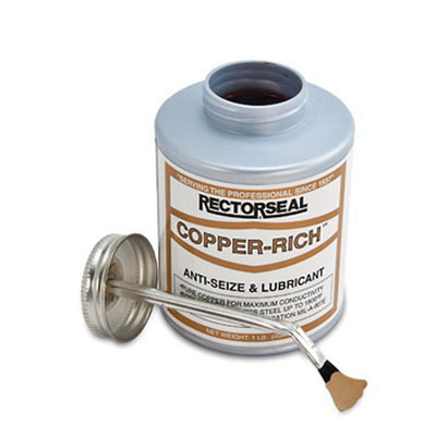 RectorSeal® COPPER-RICH™ 72851 Anti-Seize Lubricant, 0.5 pt Brush Top Can, Copper