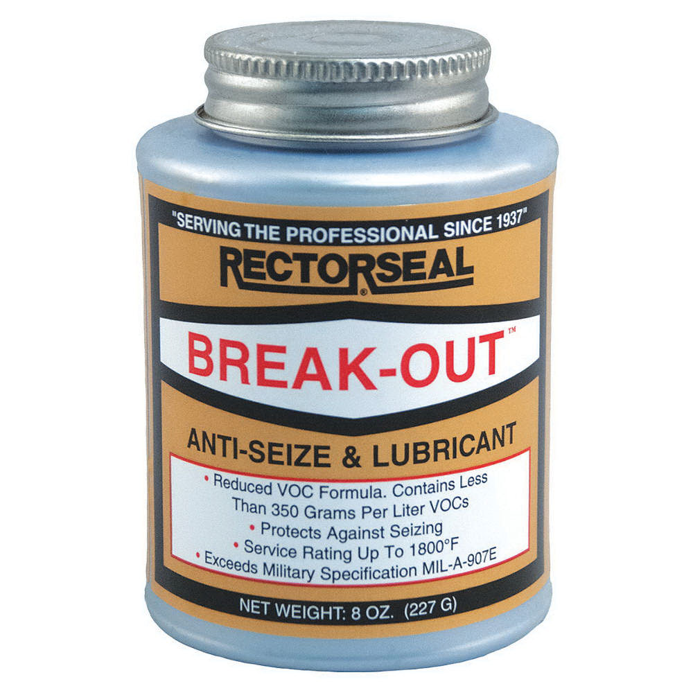 RectorSeal® BREAK OUT™ 73551 Anti-Seize Compound, 0.5 pt Brush Top Can, Bronze
