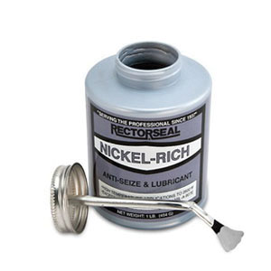 RectorSeal® NICKEL-RICH™ 73851 Anti-Seize Compound, 0.5 pt Brush Top Can, Silver