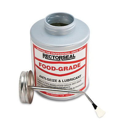 RectorSeal® 73931 Food Grade Anti-Seize Lubricant, 1 lb Brush Top Can, Off white