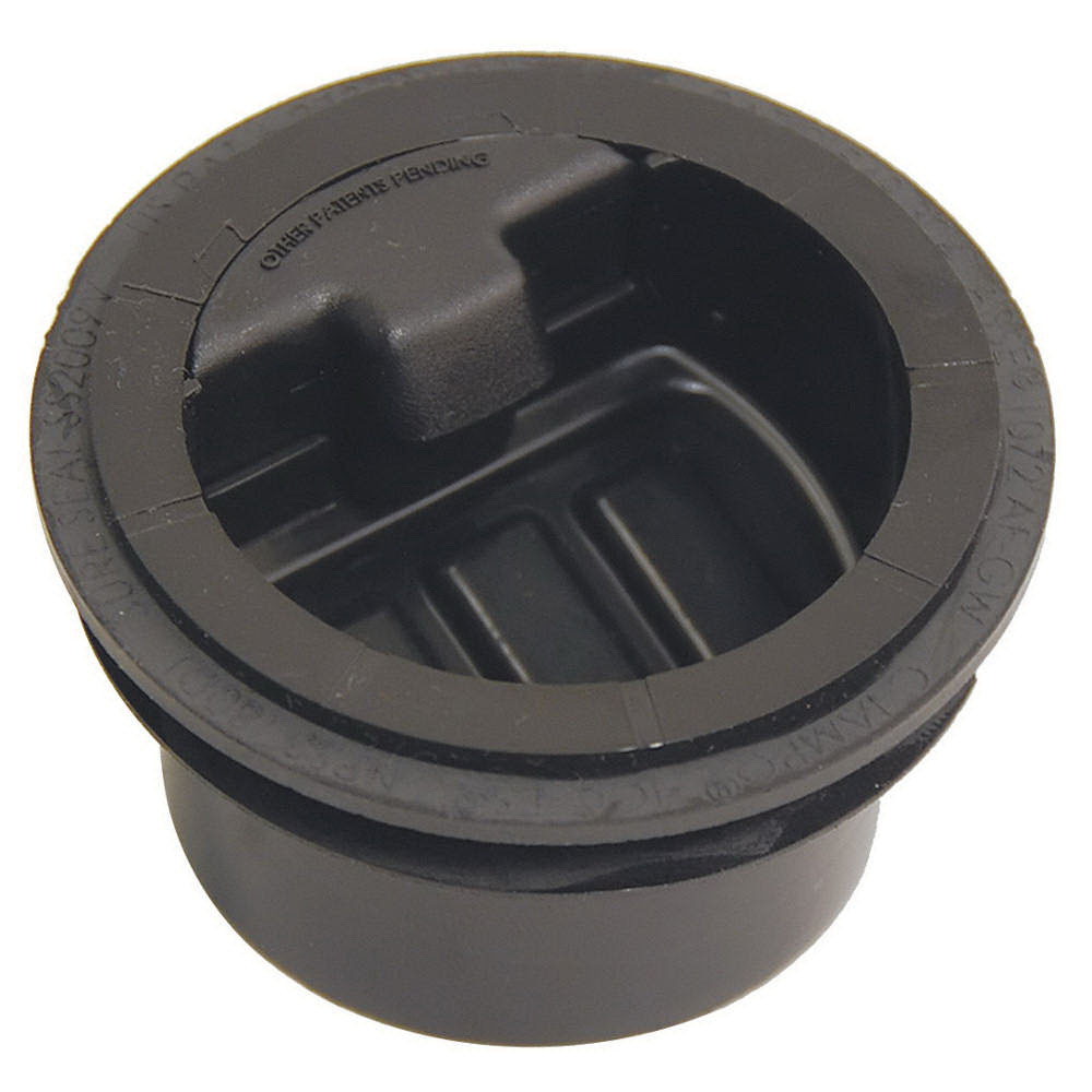 RectorSeal® SureSeal® 97041 Black HDPE Trap Seal for Floor Drains and Floor/Mop Sinks, 2 in, Slip
