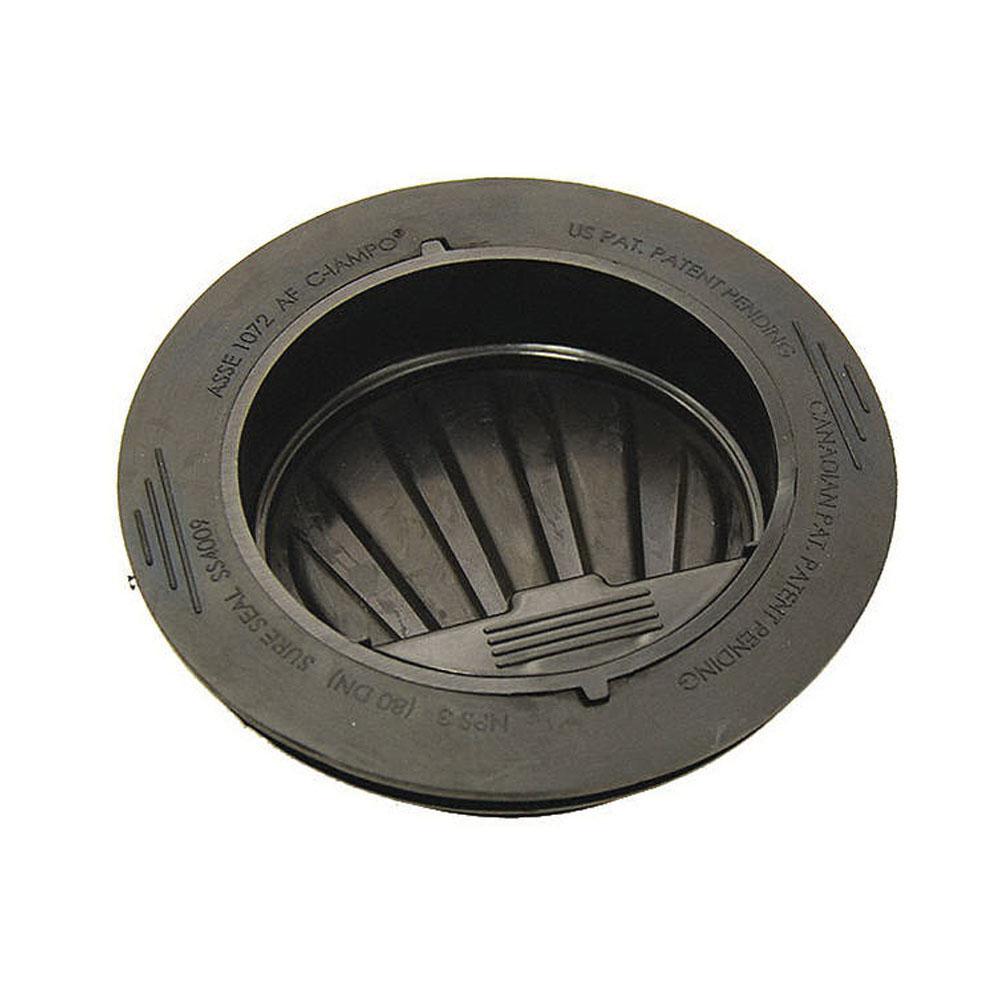 RectorSeal® SureSeal® 97044 Black HDPE Trap Seal for Floor Drains and Floor/Mop Sinks, 4 in, Slip