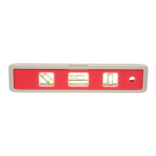 RIDGID® 20233 Red Cast Aluminum Night Shade Torpedo Level, 9 in L