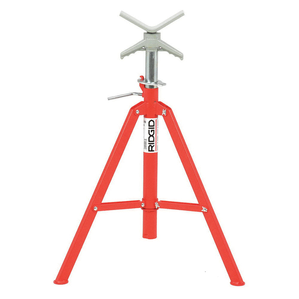 RIDGID® 22168 Tubular Steel High Pipe Stand, 12 in, 28 - 52 in H, 2500 lb