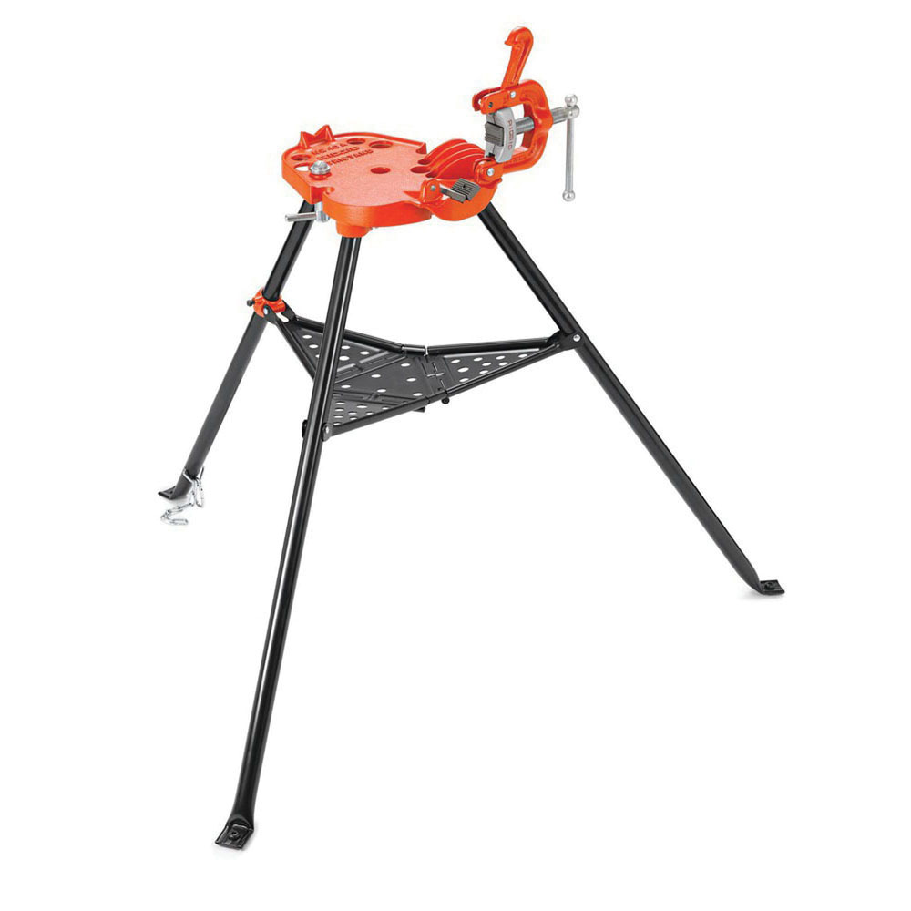 RIDGID® TRISTAND® 36273 Ductile Iron Portable Chain Vise, 1/8 - 6 in, 48 in H, 48 lb