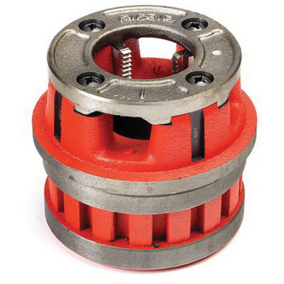 RIDGID® 37490 High Speed Steel Manual Threader Die Head, 1 in, 14 TPI NPT, Right Hand