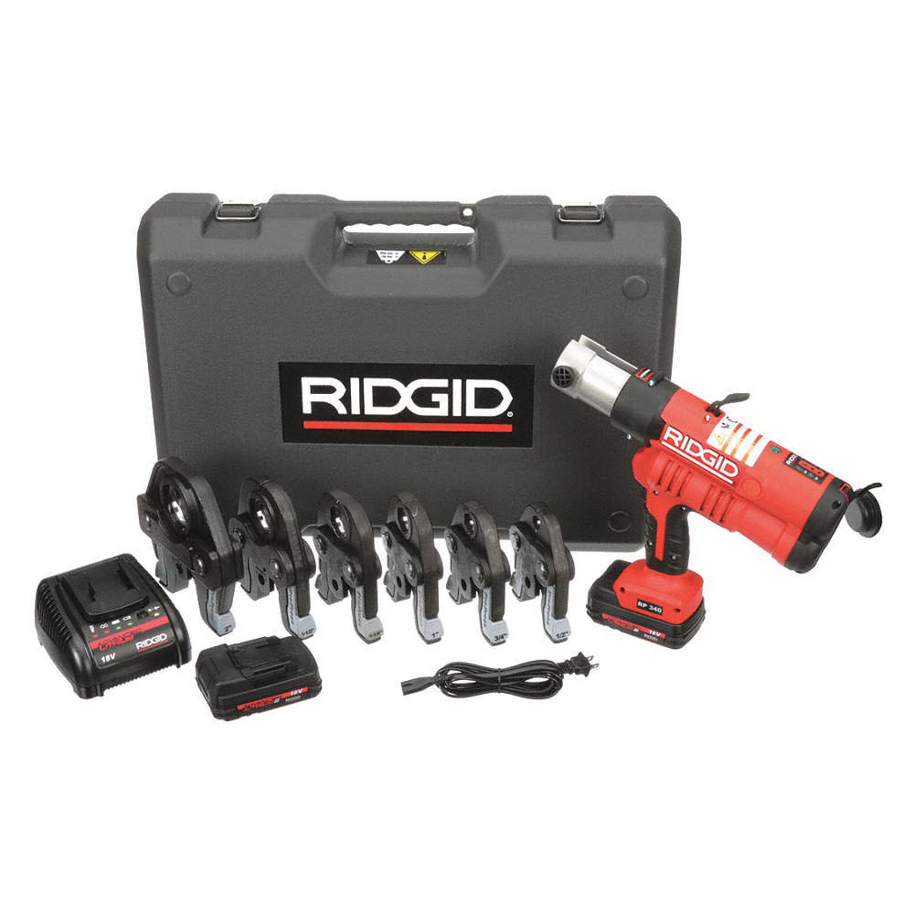 RIDGID® 43358 Press Tool Kit with ProPress Jaws, 16-1/2 in L, 1/2 - 2 in PEX, 7200 lb