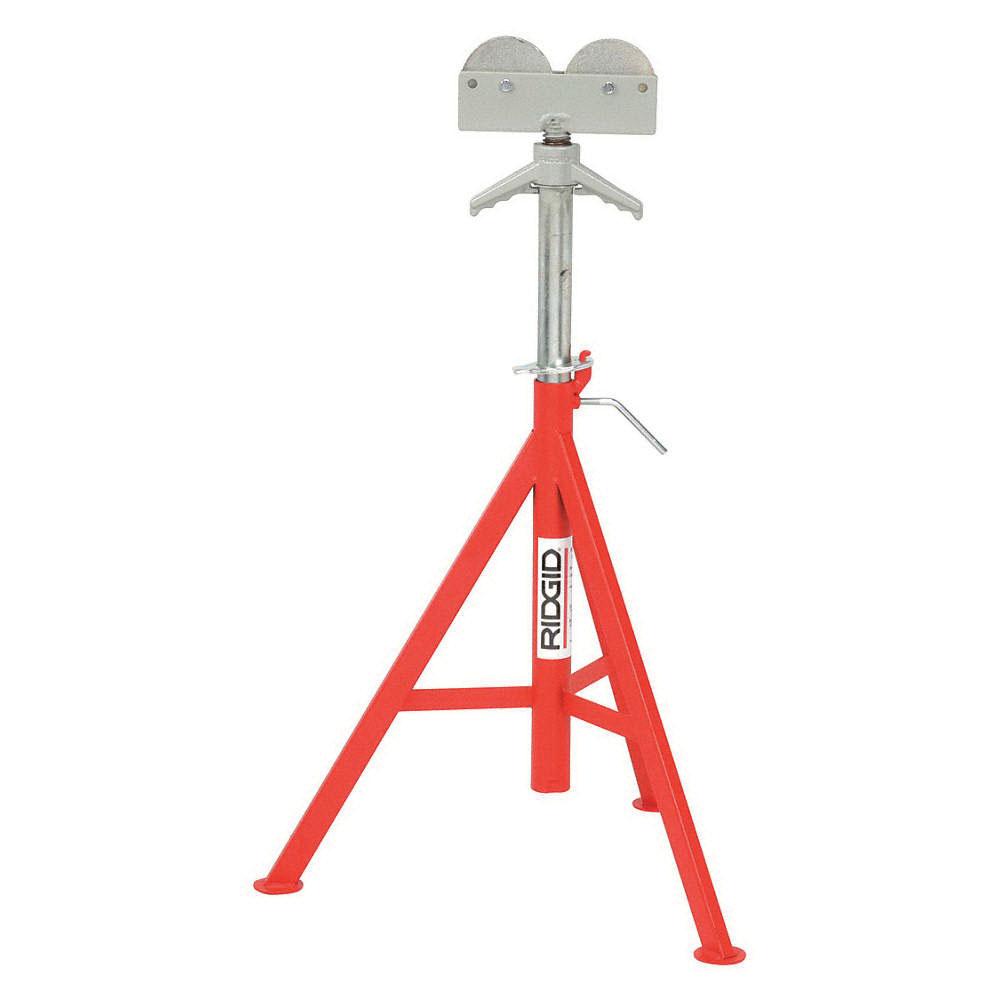 RIDGID® 56672 Tubular Steel High Pipe Stand, 12 in, 32 - 55 in H, 1000 lb