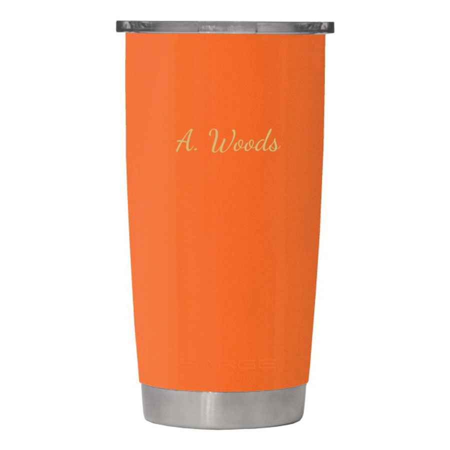 Sarge® DC-20OR 18-8 Stainless Steel Desert Cup with Lid, Orange, 20 oz