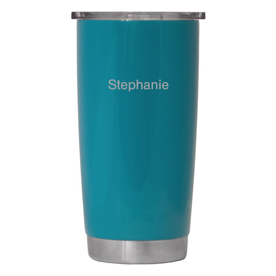 Sarge® DC-20T 18-8 Stainless Steel Desert Cup with Lid, Teal, 20 oz