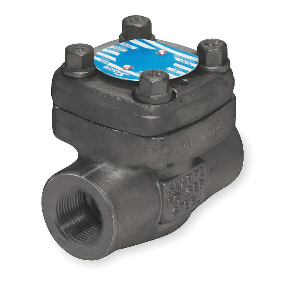 Sharpe® Series 24834 Forged Carbon Steel Piston Check Valve, Socket Weld, 1975 psi, -20 to 100 deg F