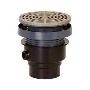 Sioux Chief FinishLine™ 832-2PNR PVC SCH 40 On-Grade Adjustable Floor Drain, 2 in, Hub