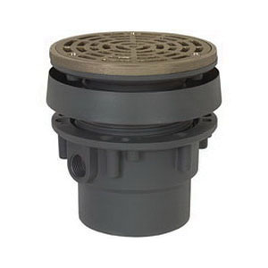 Sioux Chief FinishLine™ 832-35PNR PVC SCH 40 On-Grade Adjustable Floor Drain, 3 in, Hub