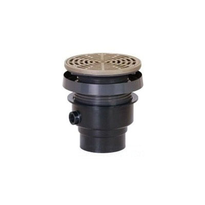 Sioux Chief FinishLine™ 832-4PNR PVC SCH 40 On-Grade Adjustable Floor Drain, 4 in, Hub