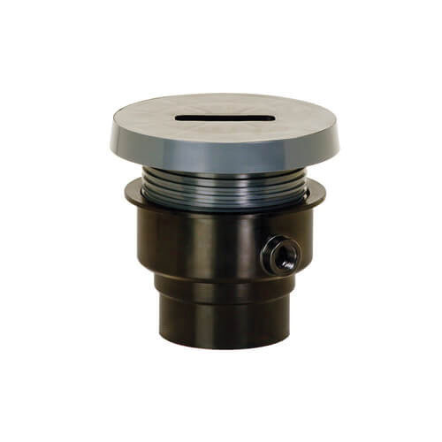 Sioux Chief FinishLine™ 834-4PF Gray PVC SCH 40 On-Grade Adjustable Rough-In Cleanout, 4 in, Hub