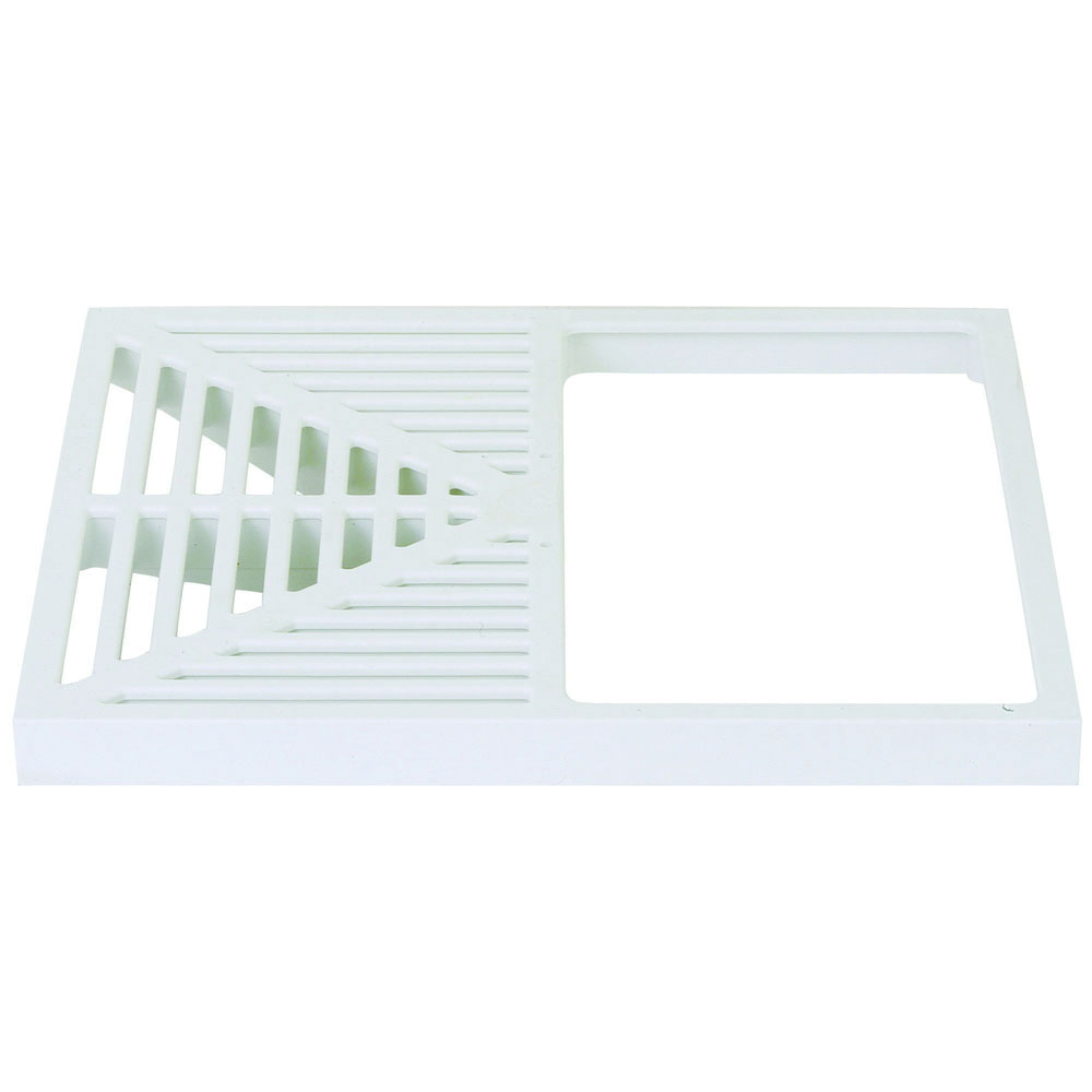 Sioux Chief Square Max™ 861-51 White PVC Square Half Open Strainer with Lift Handle