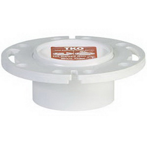Sioux Chief TKO™ 883-PT PVC SCH 40 1-Piece Closet Flange with Plastic Ring, 3 in x 4 in, Hub