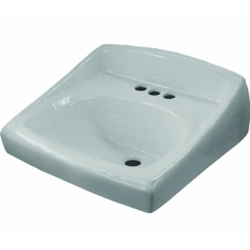 Sloan® SS-3003 White Vitreous China Wall Mount Lavatory Sink, 1-Bowl