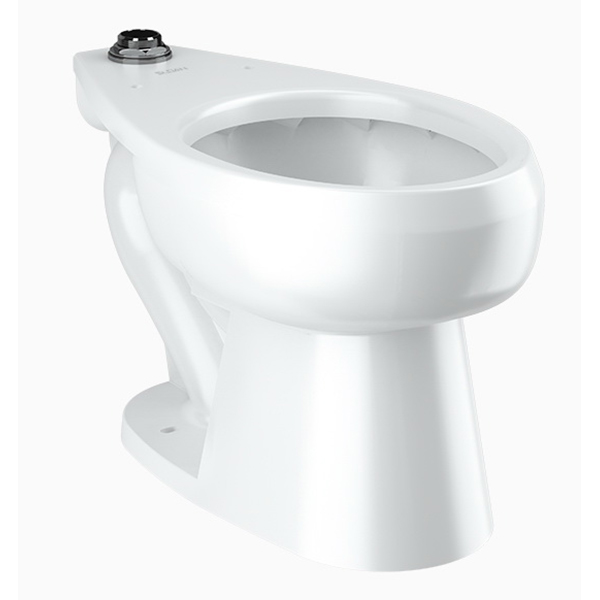Sloan® ST-2029-A White Vitreous China Elongated Top Spud Water Closet, 12 in Rough-In, 1.1 - 1.6 gpf