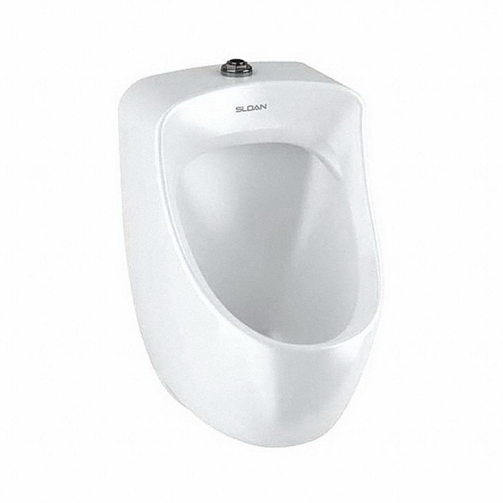 Sloan® SU-7009-A White Vitreous China Wall Mount High Efficiency Small Urinal, IPS Inlet x NPT Outlet, 0.125 - 0.5 gpf