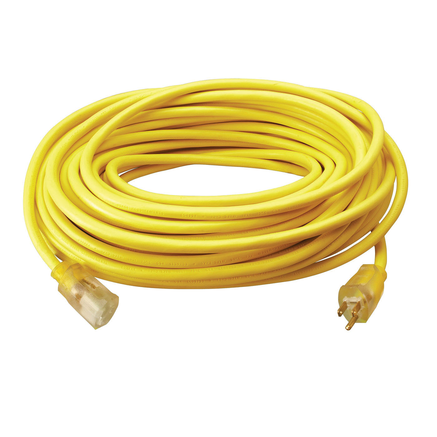 Southwire® 2589SW0002 Yellow Heavy Duty Extension Cord, 100 ft
