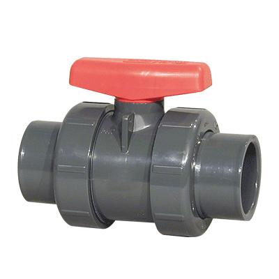 Spears® 2329-020C Gray CPVC True Union Regular Style Ball Valve, 2 in, Socket/FNPT, 235 psi, 200 deg F