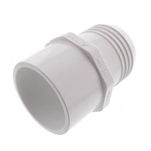 Spears® 460-020 White PVC SCH 40 Molded Adapter, 2 in, Insert x IPS Spigot
