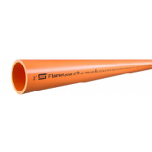 Spears® FlameGuard® Orange CPVC Extruded Fire Sprinkler Pipe, 15 ft, Socket
