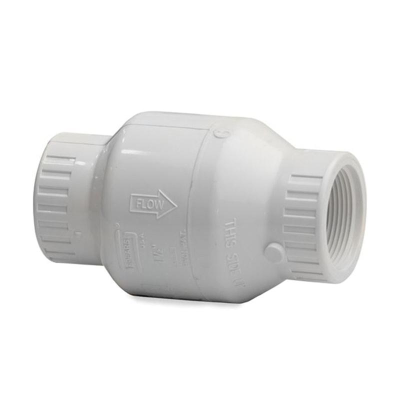 Spears® S1580-15 White PVC Utility Spring Assisted Swing Check Valve, 1-1/2 in, Socket, 150 psi, 140 deg F, 12/PK