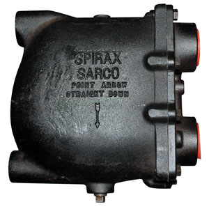 Spirax Sarco 60587 Cast Iron Float Thermostatic Steam Trap, 2 in, FNPT, 175 psig, 450 deg F
