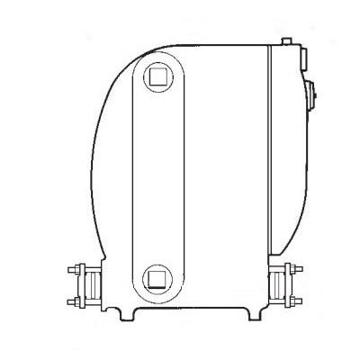 Spirax Sarco 70612 Cast Iron Low Profile Pressure Powered Pump, 30 gpm, 125 psig, 450 deg F