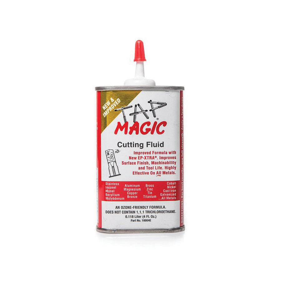 TAP MAGIC® 702-10004E Metal Cutting Oil, 4 oz Can with Spout, Yellow