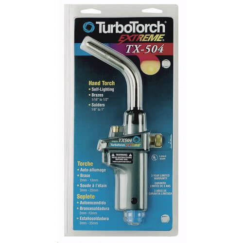 Turbotorch® 0386-1293 Swirl Self Lighting Hand Torch, 3/4 - 4 in (MAPP), 3/4 - 3 in (Propane) Soft Solders