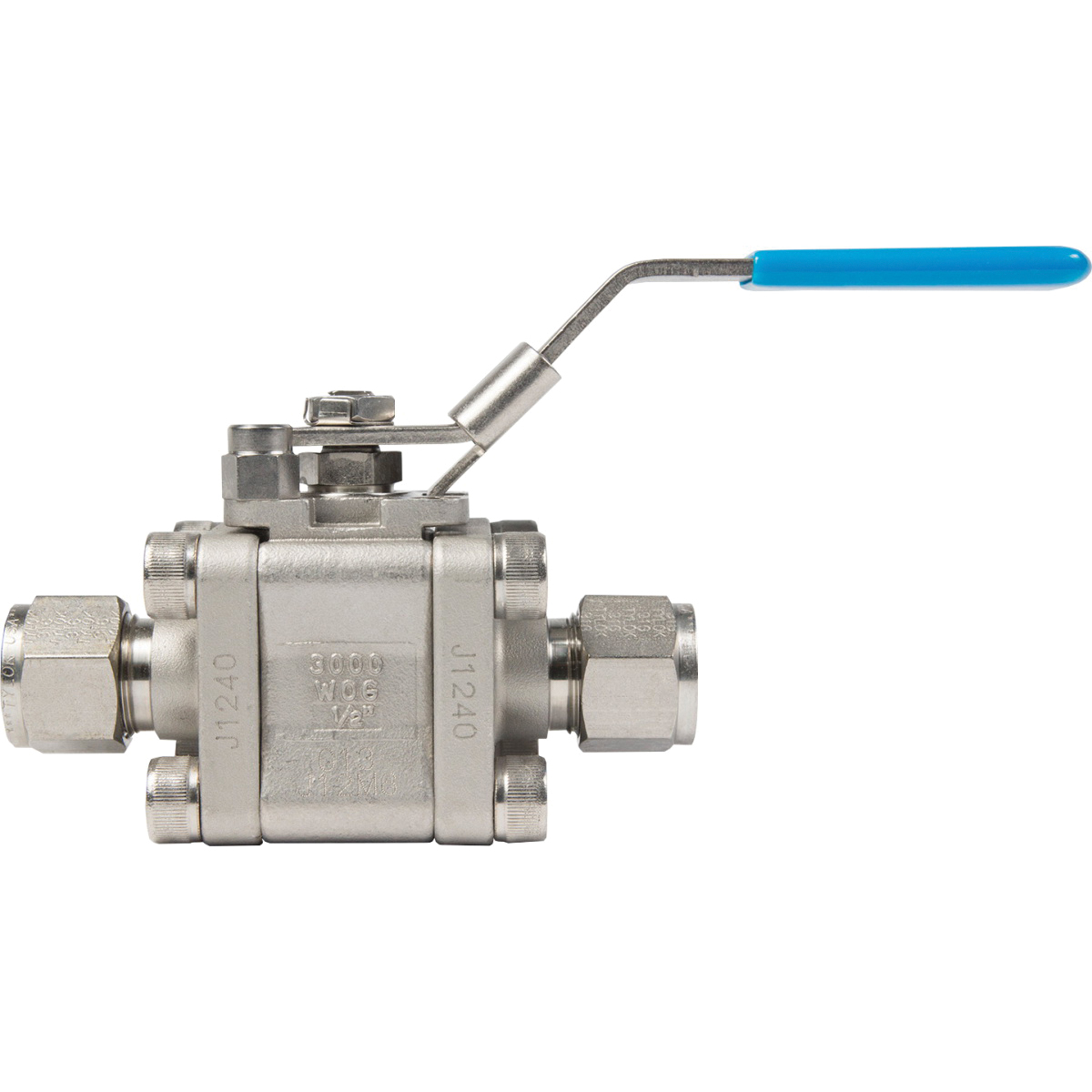 Tylok® TY-FLO® SS-12-5TT-12-RR Stainless Steel 3-Piece Ball Valve, 3/4 in, Tube, 3000 psig, 500 deg F