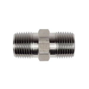 Tylok® SS-4-1HN 316 Stainless Steel Hex Nipple, 1/4 in x 1.4 in, MNPT