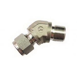 Tylok® CBC-Lok® SS-4-DME45-4 316 Stainless Steel 45 deg Elbow, 1/4 in x 1/4 in, Tube x MNPT, Domestic