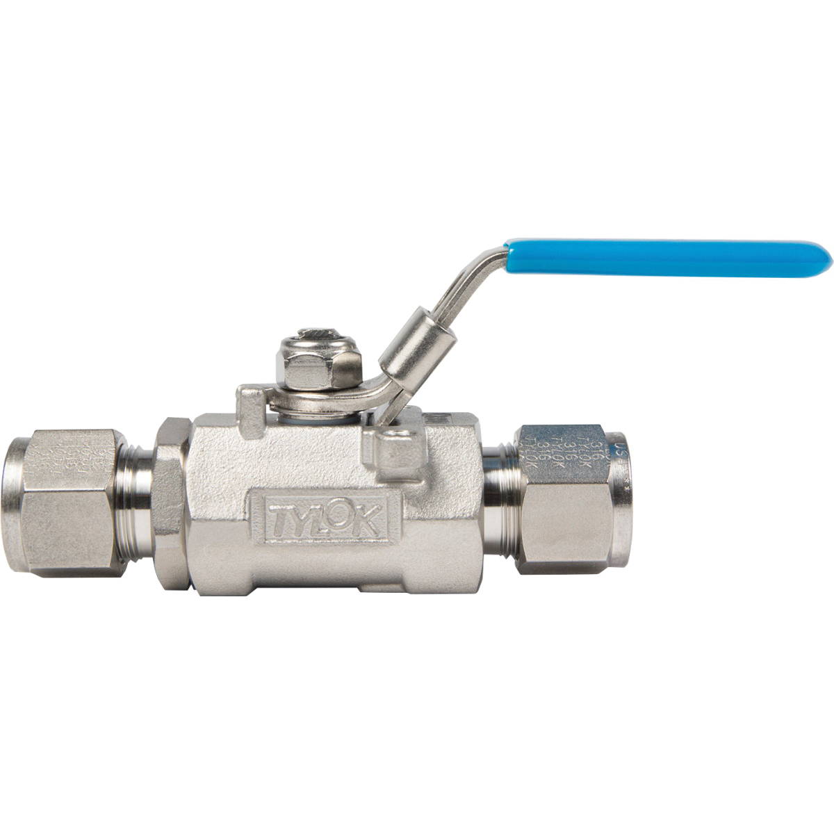 Tylok® SS-GP6-D6D6 Stainless Steel Full Port Ball Valve, 3/8 in, Compression Tube, 2000 psi, -30 to 400 deg F
