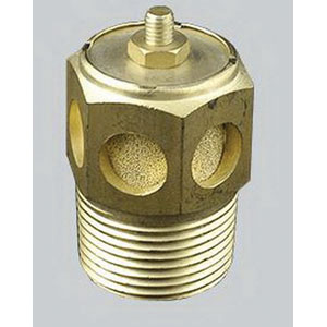 Universal Components SCM-1 Brass Body/Bronze Sintered Element Speed Control Muffler, 1/8 in NPT, 40 micron